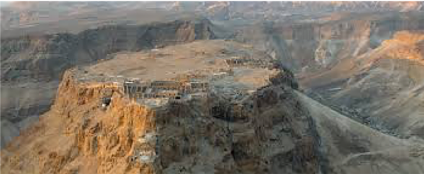 The fortress at Masada.