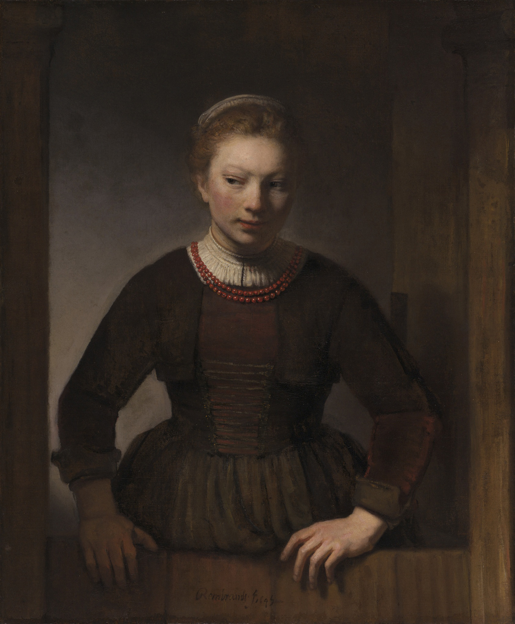 A Young Woman at a Half-open Door