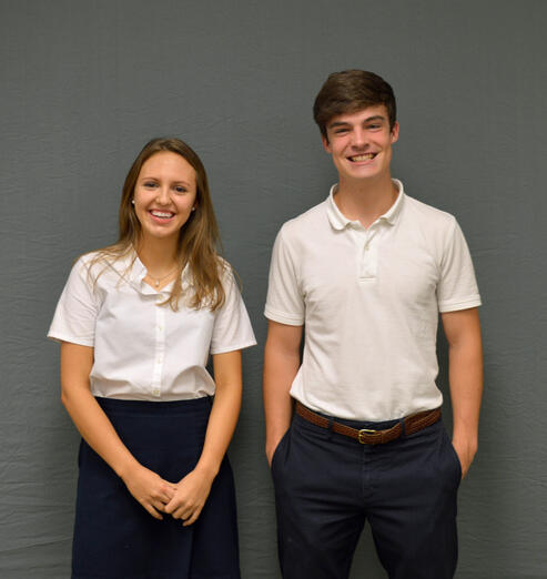 Senior Class of 2019, Isabelle Wachs and Charlie MacAdam