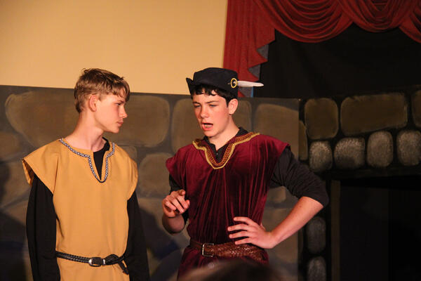 J.D. in his seventh grade Shakespeare Play