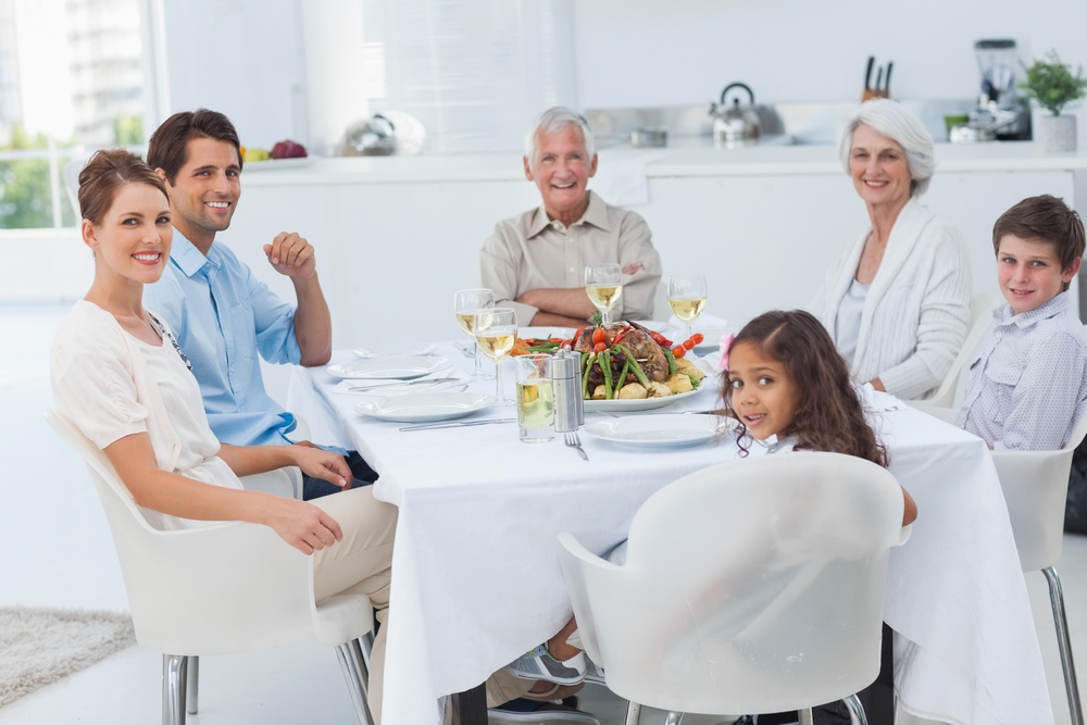 Let dinner time conversation focus gratitude.