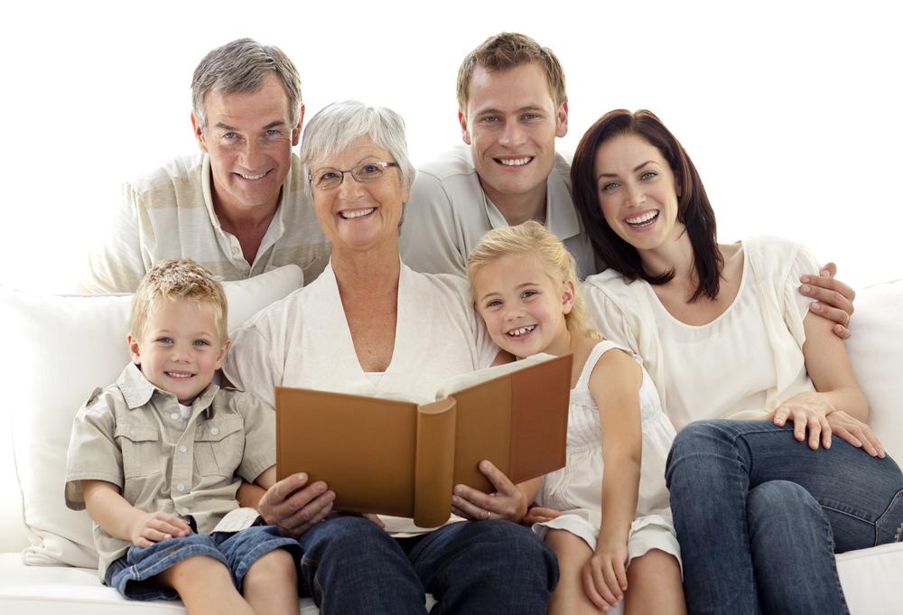 Reading creates a strong family bond.