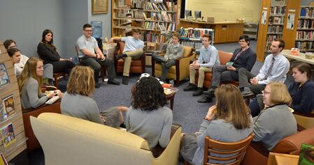 Great discussions occur at Clapham School