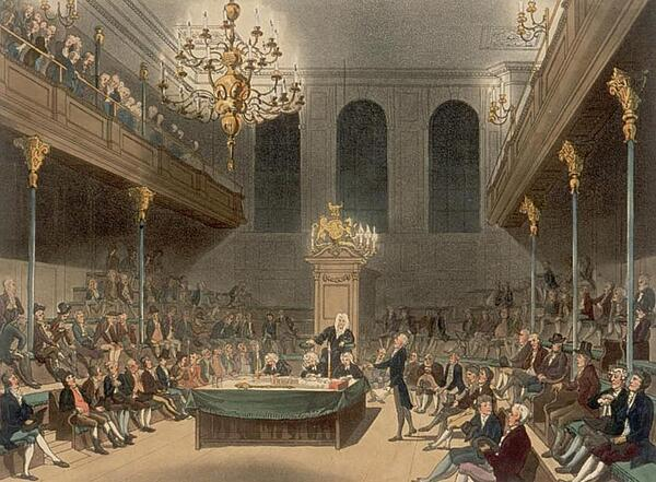 The House of Commons in William Wilberforces day.