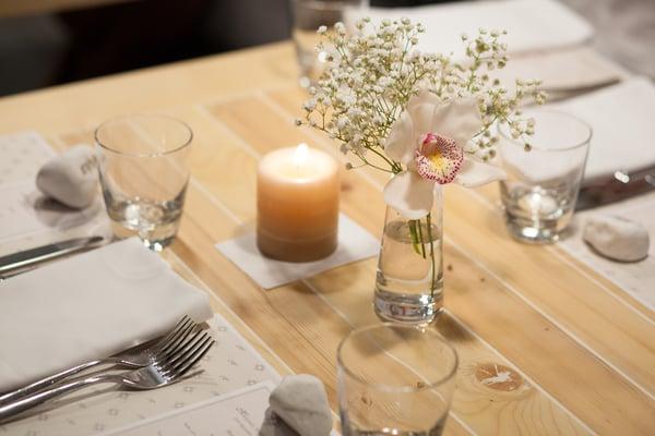 Set the table for family dinner.