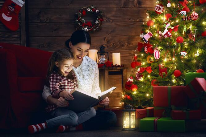 Read together at Christmas time.