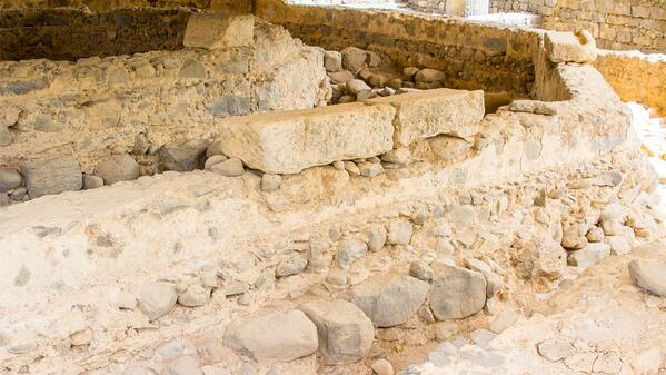 The walls and foundation of the Apostle Peter's house - the rock on which the church was built.