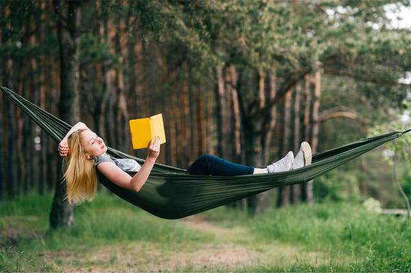 Reading in a Hammock in the Backyard