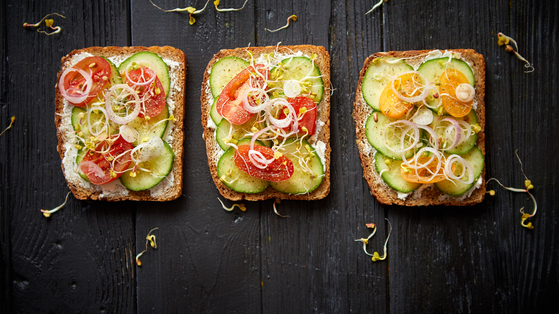 Toast made from Sprouted Bread for a Healthy Breakfast