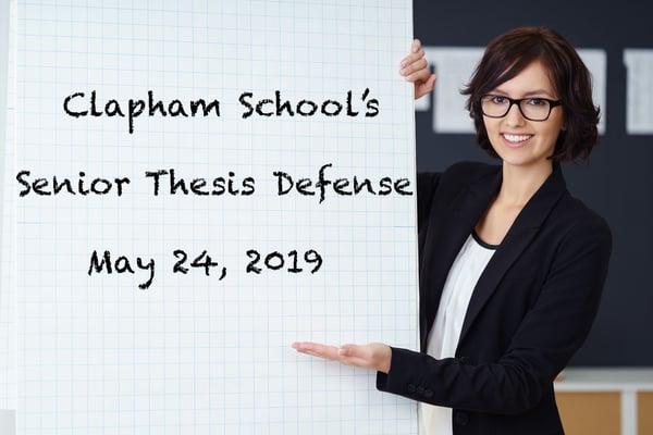 Senior Thesis Defense 2019