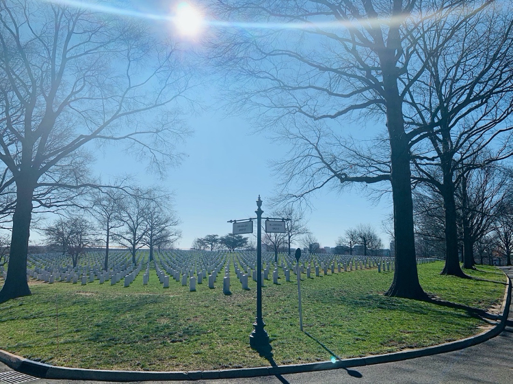A view of Arlington Cemetary